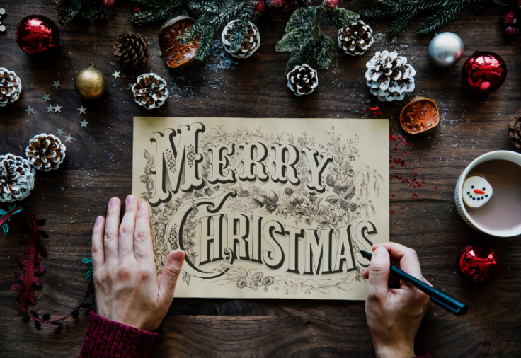 Merry Christmas Handwriting 800x551